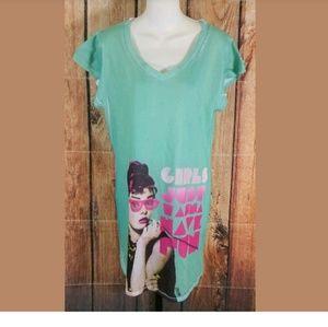 Girls Just Wanna Have Fun Shirt Nightgown Sz Large